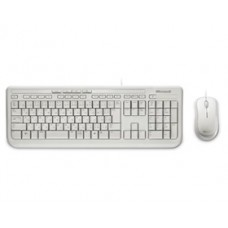 Microsoft Wired Desktop 600 White USB White Mouse & Keyboard Retail Pack