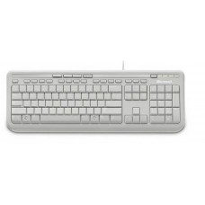 Microsoft Wired 600 Keyboard Only USB, 3 Year, ANB-00034 Retail Pack, White