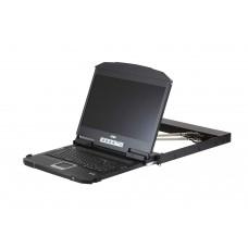 Aten 18.5' 1U Ultra Short Depth Dual Rail WideScreen FHD LCD Console (USB / HDMI / DVI / VGA) (3PL)