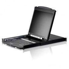 Aten 16 Port Rackmount USB-PS/2 Dual Rail Slideaway 19' LCD KVMP Switch with USB Hub and D/Chain