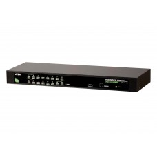 Aten 16 Port PS/2-USB VGA KVMP Switch, supports Video DynaSync, Mouse and Keyboard emulation, Cables not included
