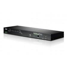 Aten 8 Port Rackmount USB-PS/2 VGA KVMP Over IP Switch with USB 2.0 Hub and Daisy Chain