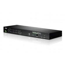 Aten 16 Port Rackmount USB-PS/2 VGA KVMP Switch with USB 2.0 Hub and Daisy Chain