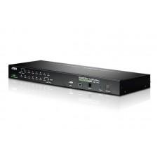 Aten 16 Port PS/2-USB 2.0 KVMP Switch over IP, 1 VGA USB KVM Cable, 1 VGA PS/2 KVM Cable included