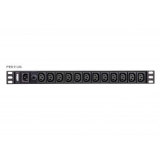 Aten 12-Port 10A Power Distriubiton Unit - Basic PDU, 1U Rackmount Design 12x C13 AC Outputs, Overload protection (PE0112G)