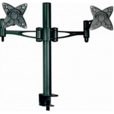Astrotek Dual Monitor Arm Desk Mount Stand 36cm for 2 LCD Displays 21.5' 22' 23.6' 24' 27' 15kg 30° tilt 180° swivel 360° rotate VESA 75x75 100x100