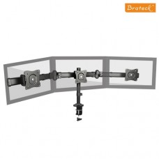 Brateck Triple Monitor Arm Mounts with Desk Clamp VESA 75/100mm Up to 27' Monitors Up to 8kg per screen