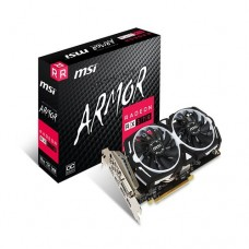 MSI AMD RX 570 ARMOR 8GB OC Video Card 8GB GDDR5 8K  3cxDP1.4 3xHDMI2.0 DL-DVI-D Crossfire TORX Fan 1268MHz